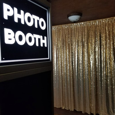 Regular photo booth rental. Photo booth at a hotel for a corporate event in Dallas TX.